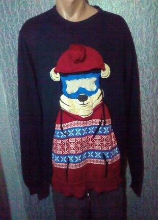 Новогодний свитер. батал.