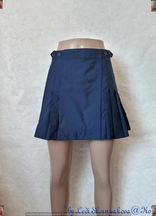 Фирменная lotto шикарная мини юбка на запах плиссе в сочном си...