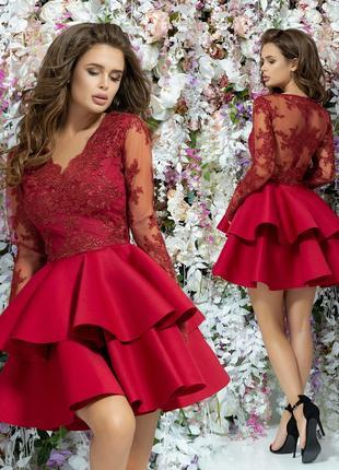 Шикарное короткое женское платье