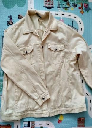 Джинсовая куртка over size