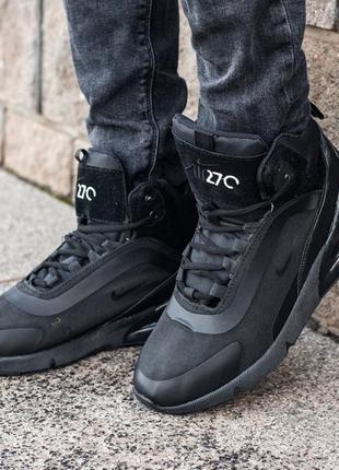 Nike air max 270 black, мужские чёрные кроссовки найк, чоловіч...