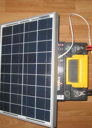 Солнечное зарядное устройство для аккумулятора