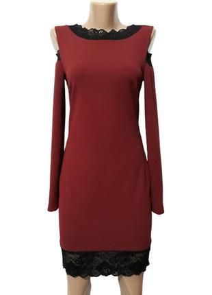 Платье с кружевом,мини