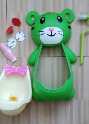 Детский туалет, горшок, писсуар для мальчика, Тигренок, с прицело