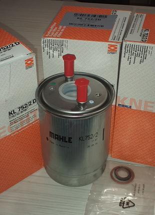 Паливний фільтр Рено Меган 3, MAHLE KL752/2D він же 164006435R