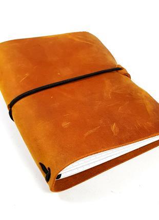 Блокнот camal кемел коричневый мидори Midori А6 кожаный натура...