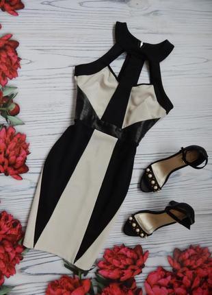🌿элегантное, комбинированое платье со вставками эко кожи от li...