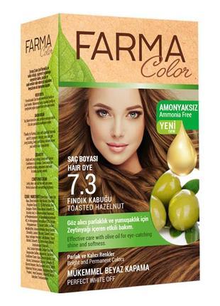 Крем-фарба для волосся farma color 7.3 горіховий