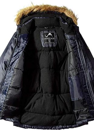 Классная теплая зимняя куртка парка vertical ´9 америка