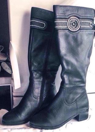 Супер цена!!! распродажа! высокие кожаные сапоги зима beliss 3...