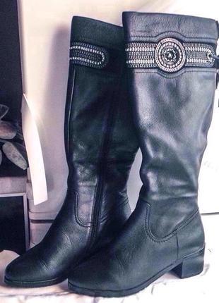 Супер цена!!! стильные высокие кожаные сапоги зима beliss 37 р...