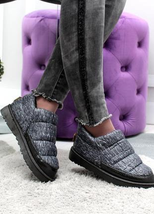 Дутики короткие,низкие слипоны ,женские ботинки черные ,серые,...