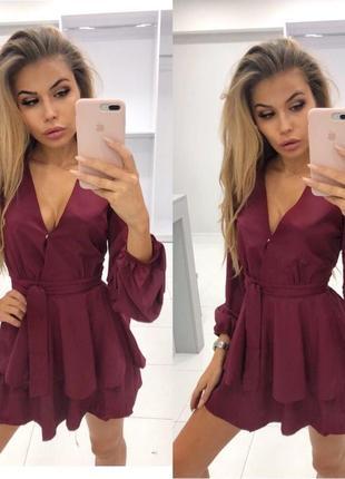 ✅ платье-шорты воланы -ромпер комбинезон
