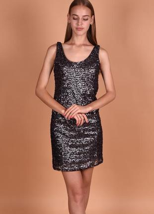 Брендовое серебряное вечернее нарядное миди платье gina tricot...