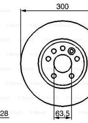 Тормозной диск VOLVO S80 II (124) / LAND ROVER RANGE ROVER EVO...