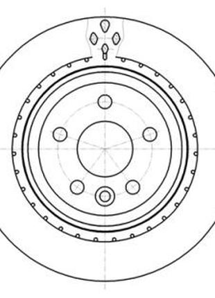 Тормозной диск VOLVO (CHANGAN) S80L / VOLVO V60 (155, 157) / V...