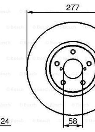 Тормозной диск SUBARU IMPREZA универсал (GG) / SUBARU LEGACY I...