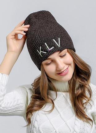 13-245 крута шапка модная вязаная шапка бини