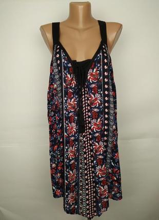 Блуза натуральная красивая в орнамент большой размер оригинал ...
