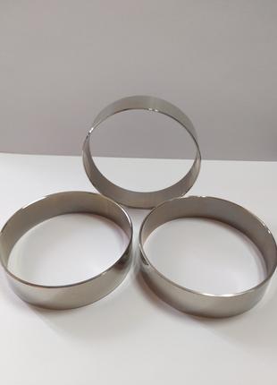 Кольца для выпечки тарталеток  8х2 см.