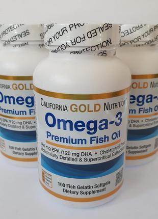 Резерв! рыбий жир омега 3 california goln nutrition, 100 капсул