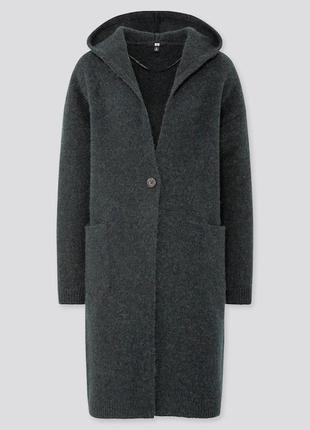 Шерстной кардиган  пальто uniqlo