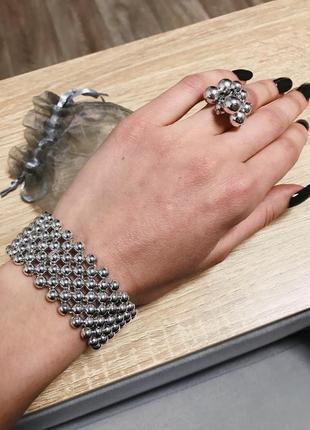 Набор украшений, кольцо браслет подарочный мешочек. отличный п...