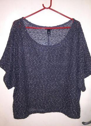 Фактурная,букле блуза,с пайетками и напылением,оверсайз,большо...