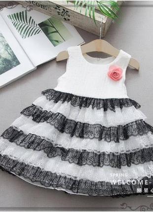 Платье нарядное белое
