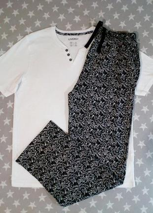 Красивая мужская пижама домашний костюм livergy германия, футб...