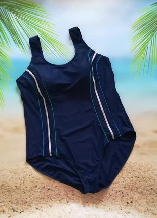 Отличный темно-синий формирующий сдельный купальник