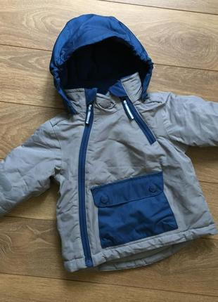 Демисезонная курточка на флисе на малыша 3-6 smile