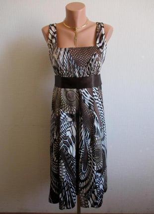 Платье из атласа в принт principles