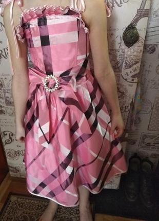 Нарядное платье с корсетом✓розмер универсальный от 7 лет до 11