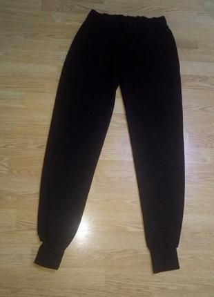 Черные спортивные штаны.унисекс