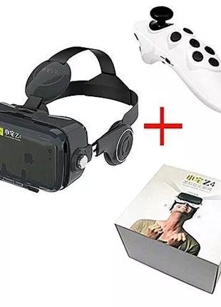 Очки виртуальной реальности VR Z4 с наушниками и пультом управлен