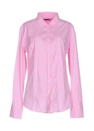 Розовая рубашка, crew, 100% коттон, s-m