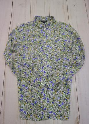 Романтичная рубашка в цветочный принт, s-m