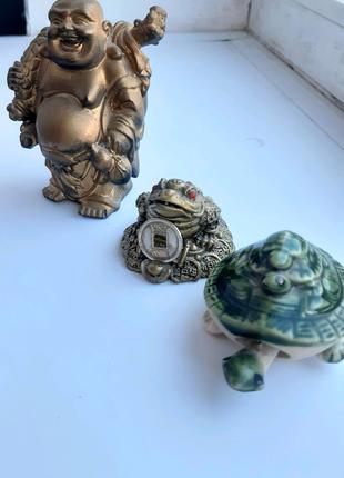 Статуэтка Хотей, жабка, черепаха Фен-Шуй