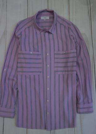 Супер рубашка в полоску с накладными карманами, xxl-xxxl