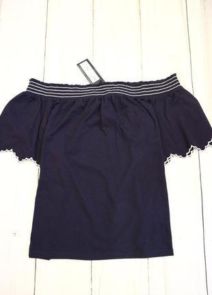 Блузка с открытыми плечами, m-l