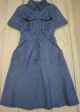 Классное джинсовое платье, m-l