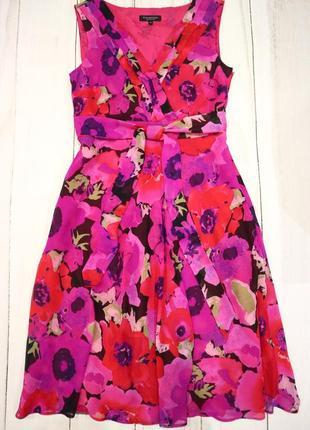 Платье в цветочный принт, m-l
