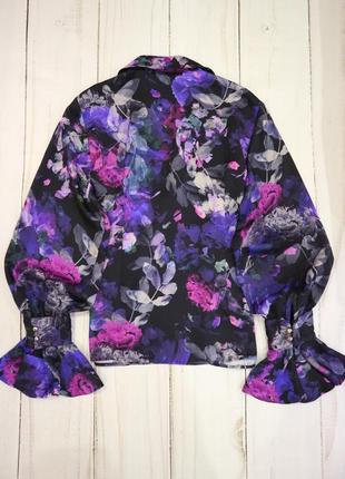 Блузка на запах в цветочный принт, l-xl