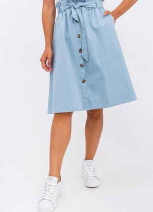 Джинсовая юбка на пуговицах, m-хl