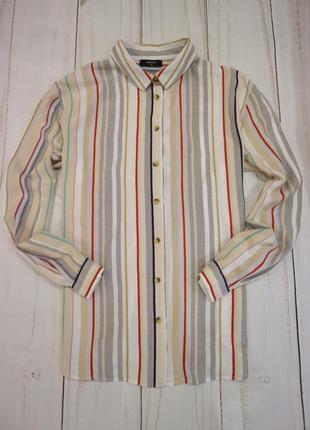 Рубашка в полоску, l-xl