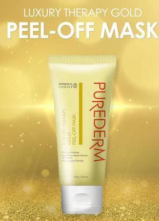 Маска для лица Purederm Luxury Therapy Gold Peel-off mask