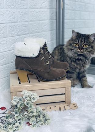 Timberland!женские зимние ботинки!натуральный замш!натуральная...