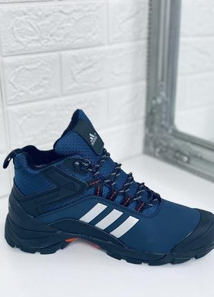 Зимние мужские кроссовки adidas climaproof blue! распродажа!
