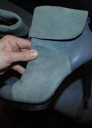 Туфли ботильоны ботинки замша и кожа calvin klien оригинал с с...
